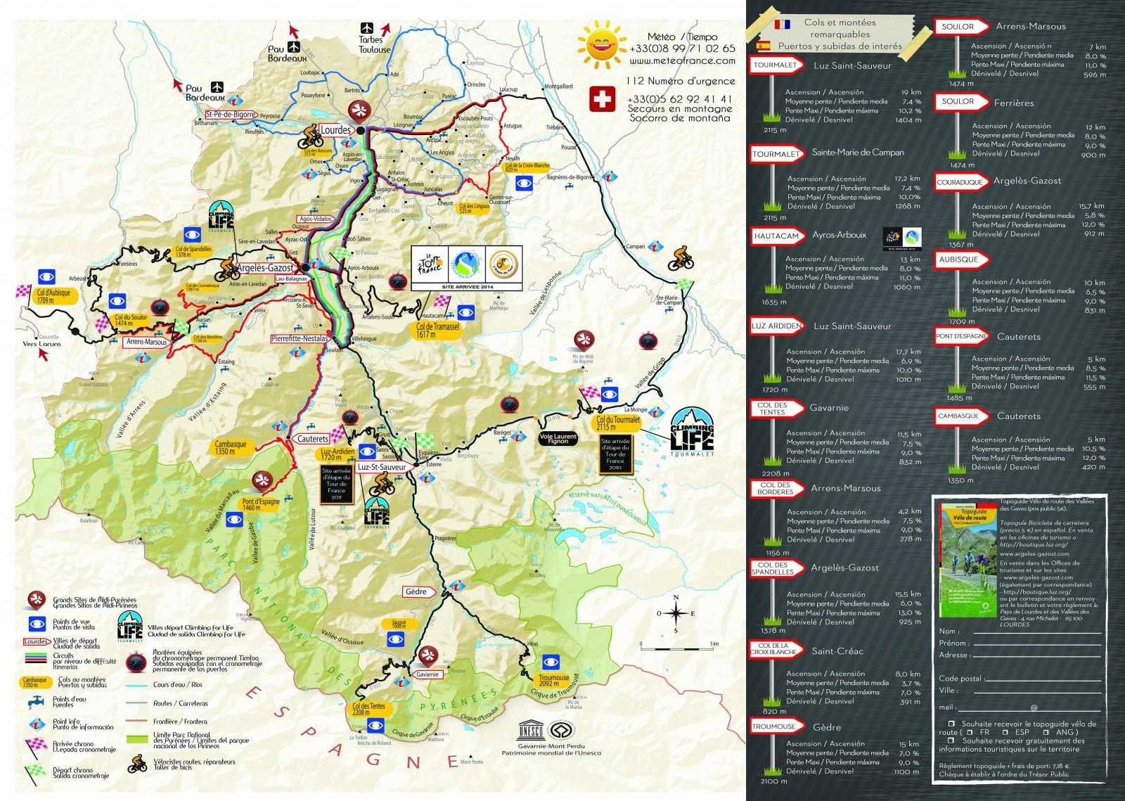 carte cycliste